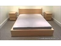 Ikea Malm oak veneer double bed frame in good condition dismantled and ready to go.