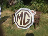 MG dealership sign