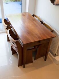 ANTIQUE FRENCH PROVINCIAL CHERRYWOOD REFECTORY TABLE
