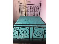 Metal Double Bed Frame + FREE Mattress
