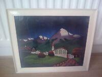 Landscape velvet painting