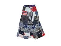 Womens Multi-colour patchwork maxi-skirt