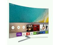 "Samsung 49"" curved 4k UHD new KU6500 Series LED SMART WI-Fi HDR TV BUILT IN HD FREEVIEW ."