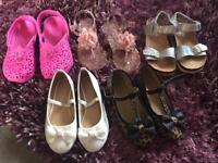 Little girls shoes approx size 10.