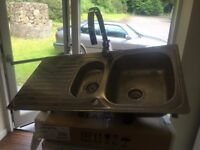 1.5 franke stainless steel sink and tap