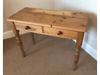Pine dressing table / working desk with drawers