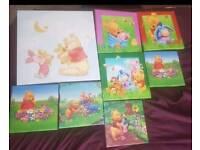 Winnie the Pooh nursery canvasses