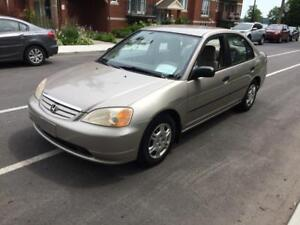 2001 HONDA CIVIC DX * TRÈS FIABLE * 514-961-9094