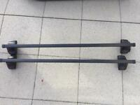 Halfords Roof Bar System A x 2 & Thule Foot Pack 754 x4
