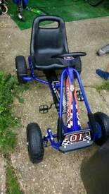 Kids blue gokart excellent condition
