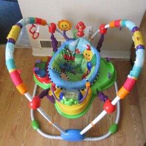 Exersaucer $70.00 and Baby Girl Clothes