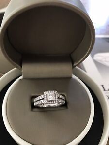 Engagement ring with 2  carats of diamonds