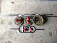 Set of Weider weights and bars