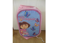 DORA THE EXPLORER POP UP ROOM TIDY - ONLY £1.50 !!! Folds flat when not in use