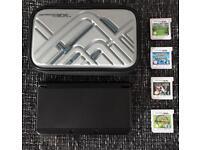 Nintendo 3DS (2nd generation) - Black - 4 Games