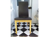 Four Multi York dining chairs .