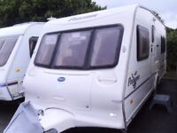 2004 Bailey Pageant Bordeaux 4 Berth FIXED BED Inc Awning