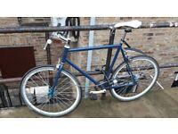 NO LOGO fixie bike LARGE FRAME Navy / White fixed gear, single speed bicycle