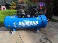 Air compressor Diamond 150Lt, 240v.