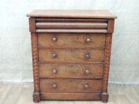 Antique walnut chest of drawers with Key Unique item (Delivery)