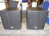 Speakers Bass - Passive - Pair - 600w rms - 18inch - Covers
