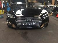Genuine Audi S5 A5 front end bonnet bumper headlights and grill break