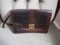Small Brown Leather Messenger's Bag