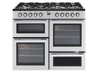 Brand New FLAVEL MLN10FRS Dual Fuel Range Cooker -Silver & Chrome GRADED RANGE Cooker special Offers