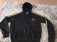 2 X Black Adidas hooded tops 2XL