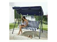 Garden swing chair boxed new