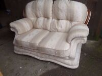 2 Seat Light Fabric Sofa Delivery Available £15