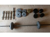 Set of weights (for bodybuilding, strength training, gym work etc.)