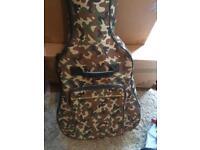 Full size camo guitar case