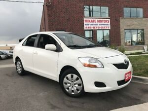 Unbelievably Clean 2010 Toyota Yaris, 107,000 KM, Sold Certified