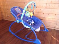 Baby rocker to toddler chair