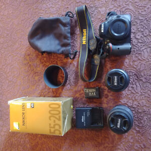 Nikon D5200 with two lenses