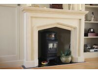 'Balmoral' Stone Effect Natural Fire Surround
