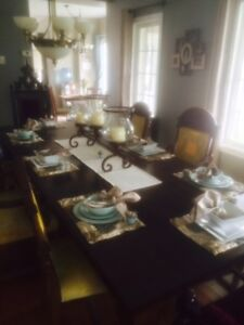 High end dinning room table and chairs