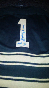 Authentic AUTOGRAPHED JOHNNY BOWER WOOL JERSEY