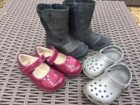 Girls Shoes size 5 - Clarks, crocs