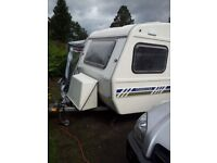 2 Berth Caravan, Lightweight,Freedom Jetstream,with Motor mover and Almost new awning