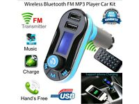 Wirless fm transmitter hands free music