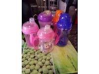 5 x various nuby cups