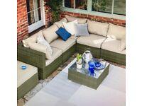 Sea grass rattan Garden corner sofa set