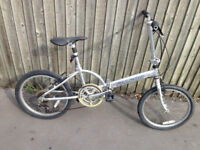 folding bike Falcon Nimbus lightweight alloy city bicycle easy to fold