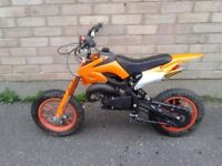 ORION MINI DIRTBIKE 50CC FOR SALE SPARES REPAIRS