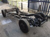 London Taxi TX2 Chassis complete with complete axles,st box, fuel tank,wheels