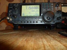icom 746 hf 6m 2m 5w-100w built in atu with desk mike icom sm 20