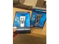 Two rechargeable shavers(one left)