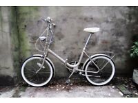 BSA, vintage shopper folding bike, 3 speed